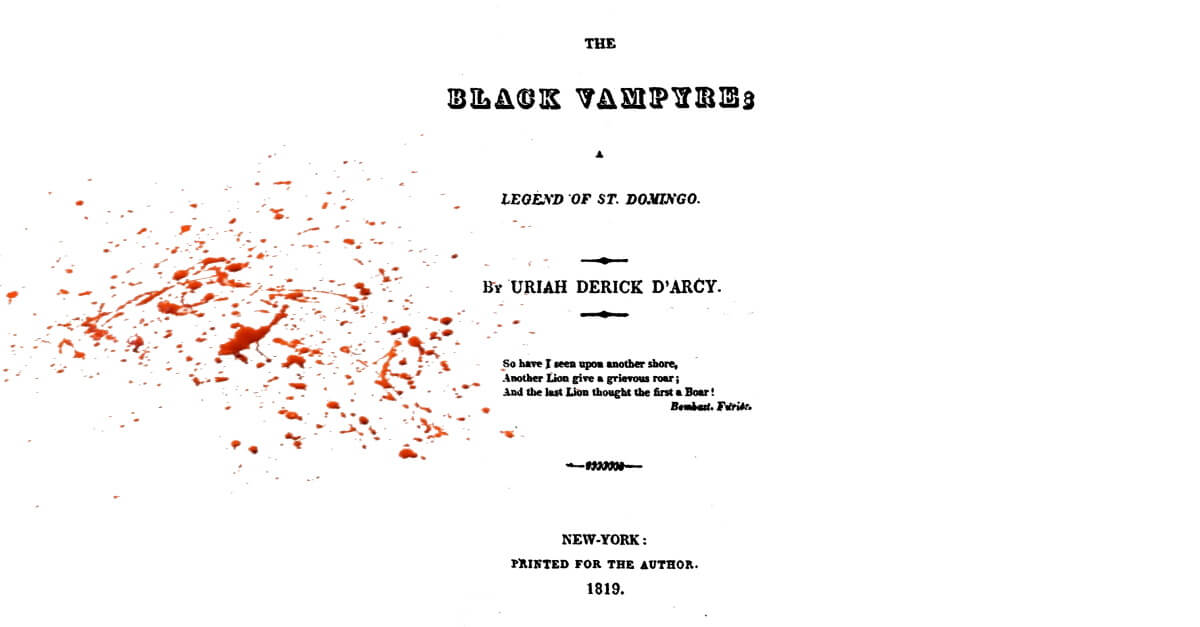 The Black Vampyre republished